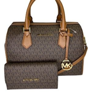 Michael Kors Bedford Large Duffle and Wallet Set